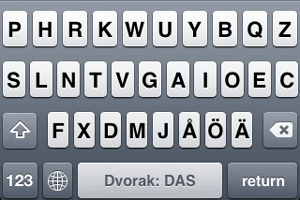 DAS-asettelu iPhonessa